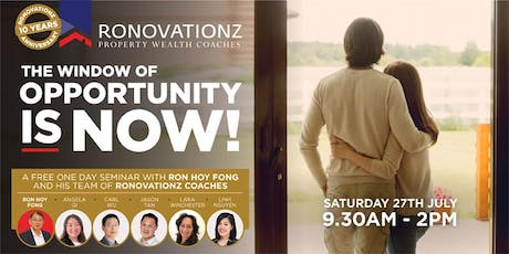 The Window Of Opportunity Is Now! tickets