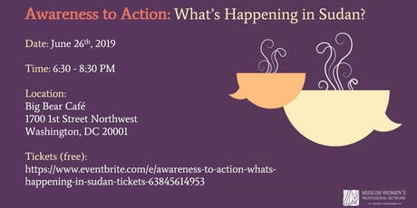 Awareness to Action: What's Happening in Sudan tickets
