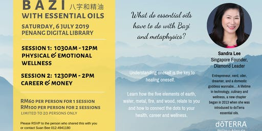 BAZI WITH ESSENTIAL OILS - PHYSICAL & EMOTIONAL WELLNESS
