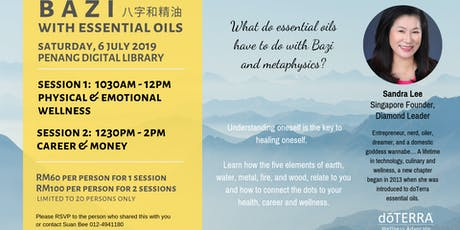 BAZI WITH ESSENTIAL OILS - CAREER & MONEY tickets