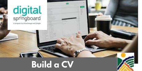 Build a CV @ Freeling Library (Sep 2019) tickets