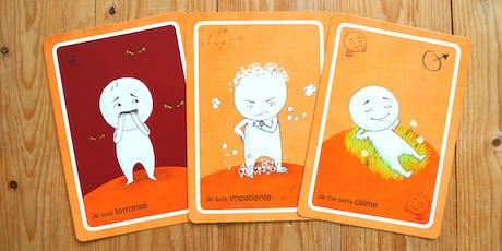 """Atelier """"jeux sérieux"""" : exprimer ses émotions en jouant aux cartes billets"""