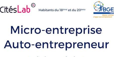 Atelier micro-entreprise auto entrepreneur billets