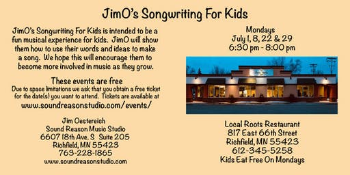 JimO's Songwriting For Kids