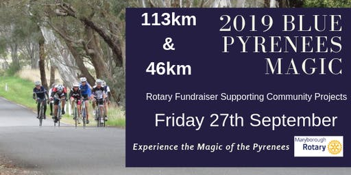 Blue Pyrenees Magic ride AFL public holiday Friday 27/09/19