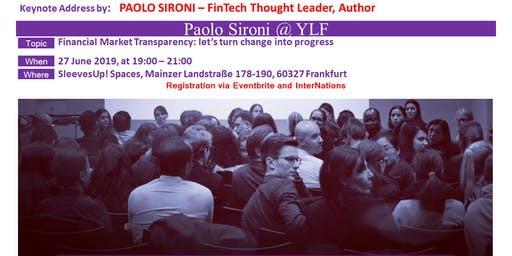 Acclaimed FinTech Thought Leader & Author, Paolo Sironi returns to YLF