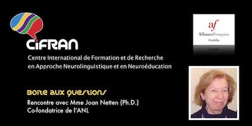 ANL - Rencontre avec Joan Netten, co-conceptrice de l'approche neurolinguistique d'enseignement des langues @ Curitiba, Brasil