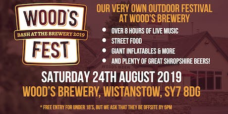 Woods Fest - Bash at the Brewery tickets