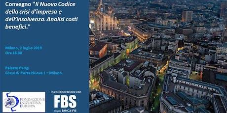 Il Nuovo Codice della crisi d'impresa e dell'insolvenza. Analisi costi benefici biglietti