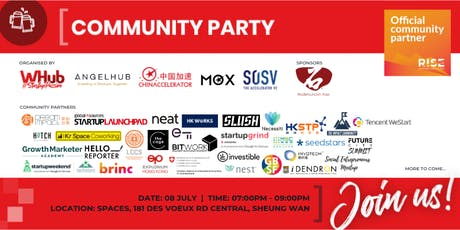 Community Party - RISE - WHub x SOSV tickets