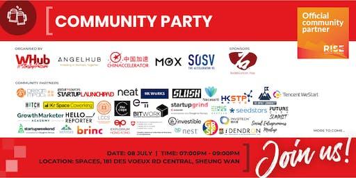 Community Party - RISE - WHub x SOSV