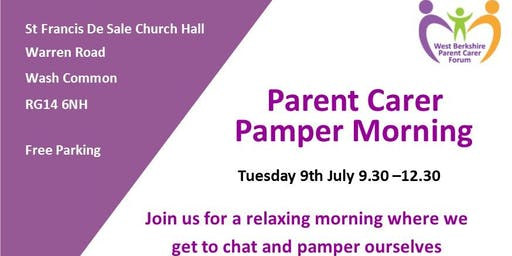 Parent Carer Pamper Morning