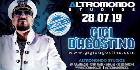 Gigi D'agostino Altromondo Studios Rimini | 28 Luglio 2019 | Offerta Riccione Beach Hotel biglietti