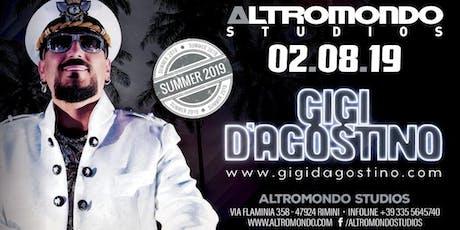 Gigi D'agostino Altromondo Studios Rimini | 02 Agosto 2019 | Offerta Riccione Beach Hotel biglietti