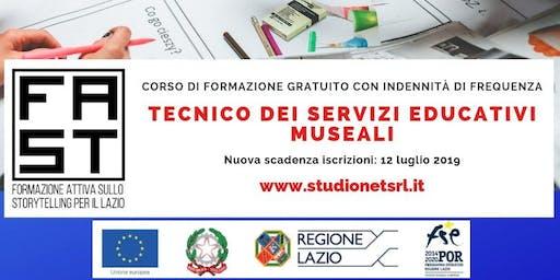 """CORSO GRATUITO PER """"TECNICI DEI SERVIZI EDUCATIVI MUSEALI"""" A CASSINO (FR)"""