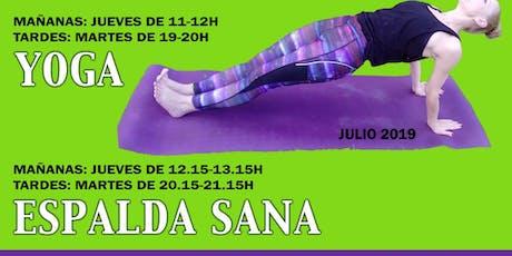 Talleres de yoga y espalda sana (mañanas) entradas