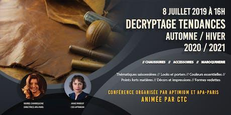 Decryptage Tendances Automne / Hiver 2020-2021 billets