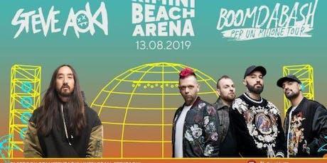 Concerto Steve Aoki & Boomdabash Rimini Beach Arena | 13 Agosto 2019 | Offerta Riccione Beach Hotel biglietti