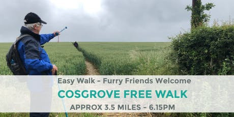 COSGROVE SURPRISE WALK | APPROX 3.5 MILES | NORTHANTS WALK   tickets