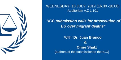 ICC submission calls for prosecution of EU over migrant deaths