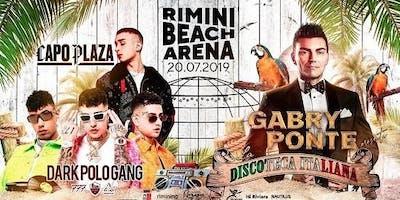 Capo Plaza & Dark Polo Gang & Gabry Ponte Rimini Beach Arena | 20 Luglio 2019 | Offerta Riccione Beach Hotel