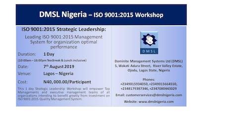 ISO 9001:2015 Strategic Leadership Workshop tickets