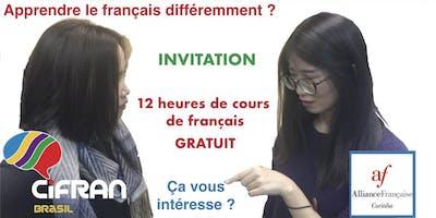 12 heures de cours de français gratuits ! ANL1, Curitiba (PR), Brésil 07-2019