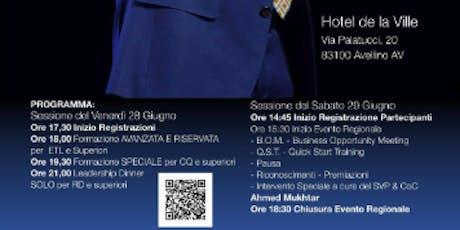 Evento Regionale Campania 28/29 Giugno 2019 biglietti