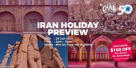 Iran Holiday Preview tickets