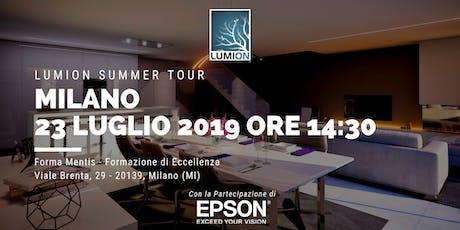 Presentazione Lumion Milano biglietti