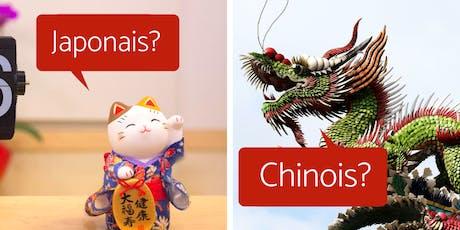 Apéro des langues - japonais et chinois billets