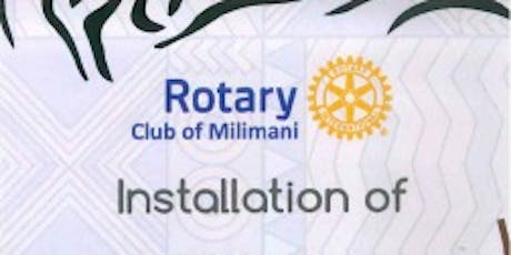 Rotary Club Of Milimani Installation Lunch tickets