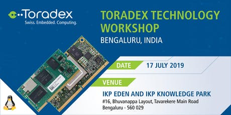 Toradex Technology Workshop 2019, Bangaluru, India tickets