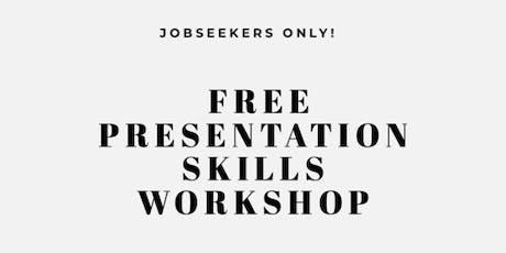Presentation skills workshop for jobseekers tickets