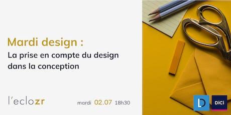 Mardi Design : la prise en compte du design dans la conception billets