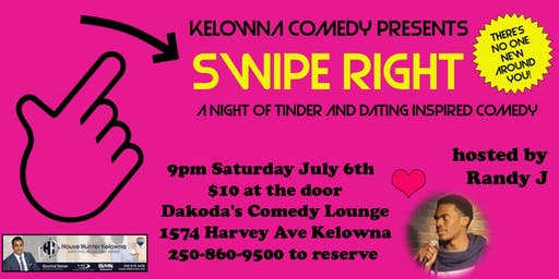 Swipe Right a night of tinder inspired comedy