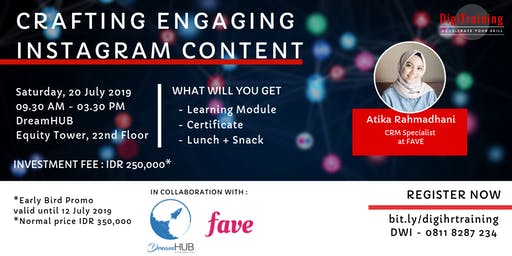 [PAID EVENT] Crafting Engaging Instagram Content