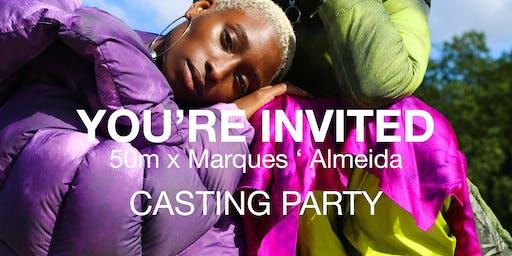50m X Marques Almeida Casting Party