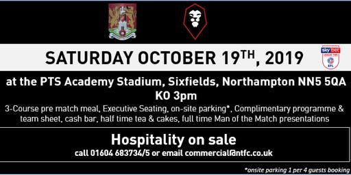 SALFORD CITY HOSPITALITY AT NORTHAMPTON TOWN FOOTBALL CLUB