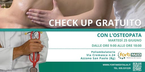 CHECK UP GRATUITO CON L' OSTEOPATA