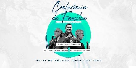 CONFERÊNCIA DA FAMÍLIA - Desafios do Mundo Atual - esgotado! ingressos