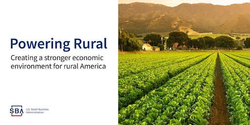 SBA and USDA Workshops Spotlighting: Rural Area Businesses