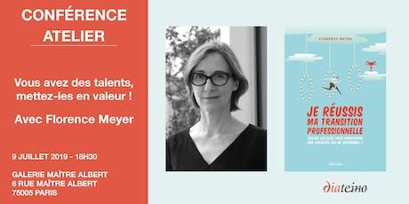 Conférence - atelier de Florence Meyer : Mettez vos talents en valeur ! billets