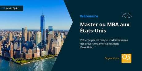 WEBINAIRE: Masters & MBA aux États-Unis tickets