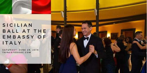 Black Tie Sicilian Ball at the Embassy of Italy
