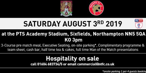 WALSALL MATCH DAY HOSPITALITY