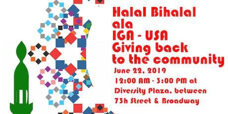 Halal Bihalal ala IGA - USA tickets