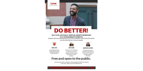 Do Better! A workshop for positve change.  tickets
