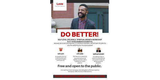 Do Better! A workshop for positve change.