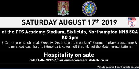 MACCLESFIELD TOWN HOSPITALITY AT NORTHAMPTON TOWN FOOTBALL CLUB tickets